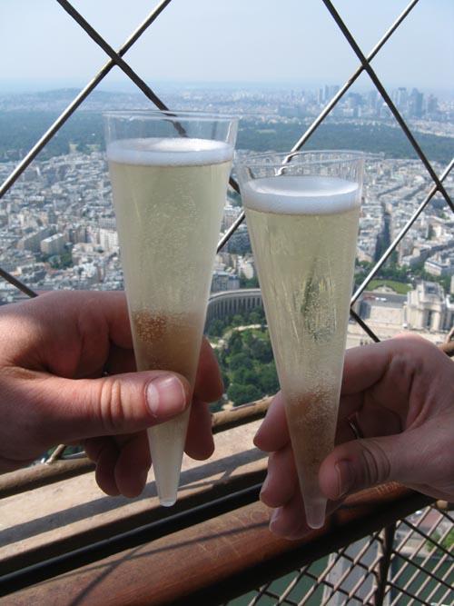Drinks in the 3rd Floor Eiffel Tower  Bar