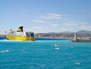 Return ferry to Sardinia