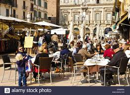 Lunch in the piazza
