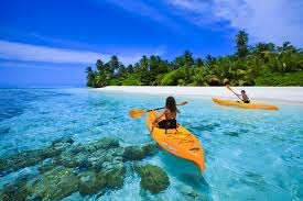 KAYAKING IN THE BLUE