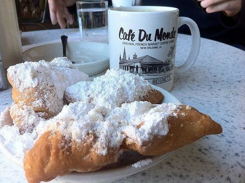 Breakfast, beignets and coffee