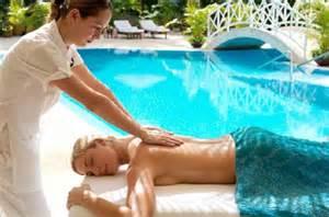 Poolside massage