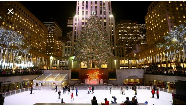 Skating at Rockefeller Centre
