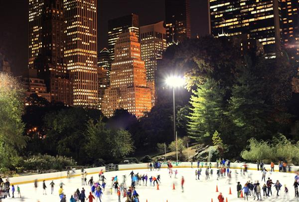 Skating at Wollman Rink in Central Park