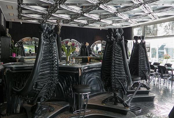 Drinks in the HR Giger Bar