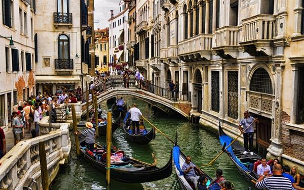 A Gondola ride in Venice