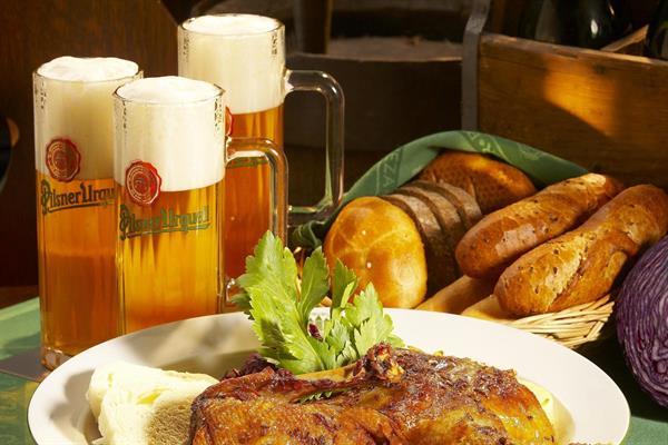 Traditional Czech dinner