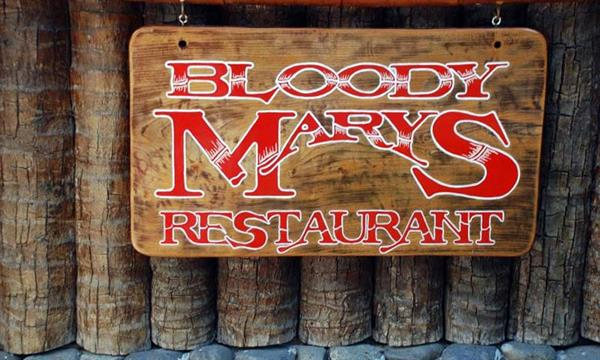 Seafood dinner at Bloody Marys